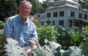 Alan Betts in his Pittsford Garden - July 17, 2012