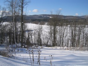 Winter snow in Vermont