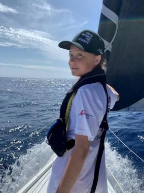 Greta Thunberg crossing Atlantic: August 2019