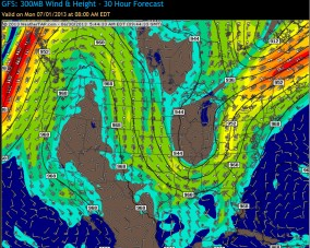 Jet-Stream pattern - July1, 2013