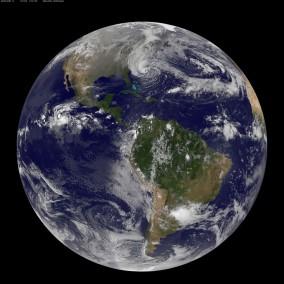 Hurricane Sandy coming up the east coast.