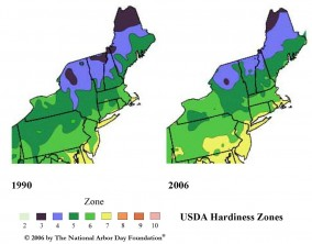 Change of Winter Hardiness Zones